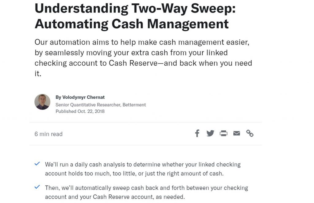 Betterment Two-Way Sweep