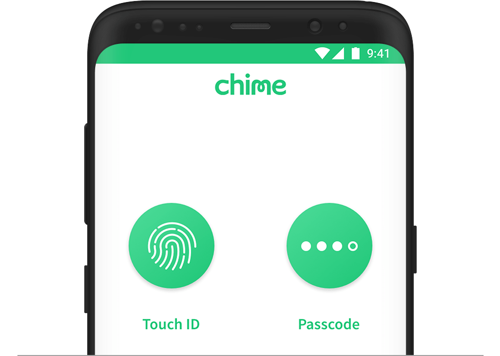 Chime Bank Touch ID